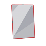 Cutie de 12 folii cu inele metalice Easyload - Culoarea Bordeau