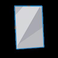 Cutie de 12 folii cu inele metalice Easyload - Culoarea albastra
